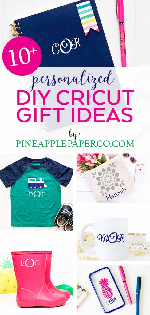Best DIY Personalized Gifts - Martha Stewart Cricut - Pineapple