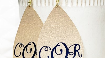 Monogrammed Leather Earrings Cricut