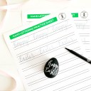 Printable Easter Hand Lettering Worksheet