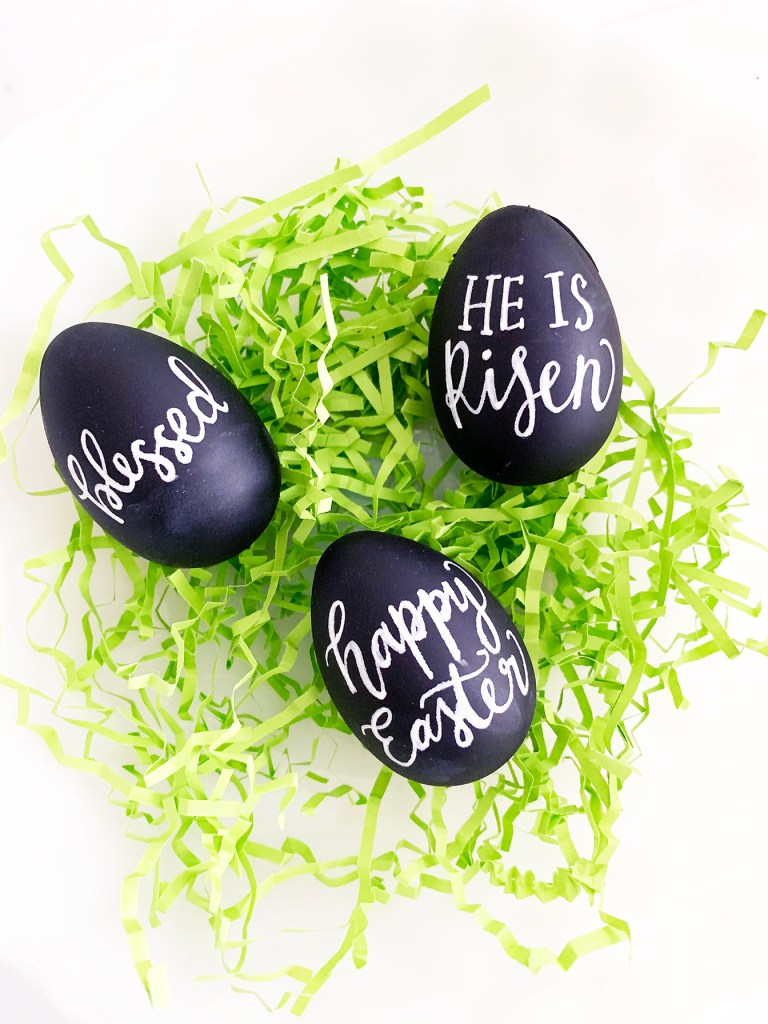 Hand Lettered Chalkboard Easter Eggs by Pineapple Paper Co.