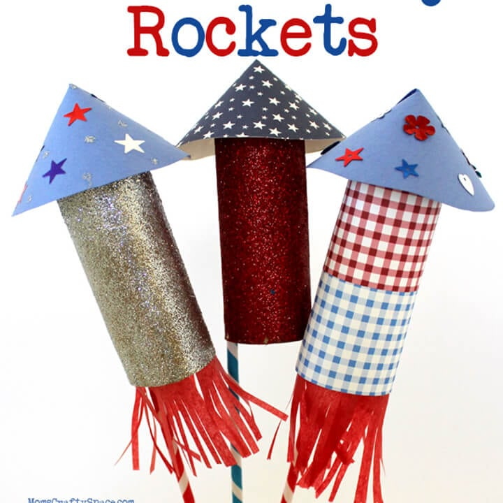 Kids Craft: 4th of July Rockets