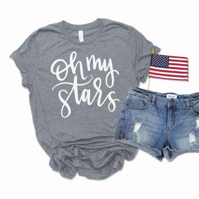 Free Oh My Stars SVG to Make a DIY 4th of July Shirt