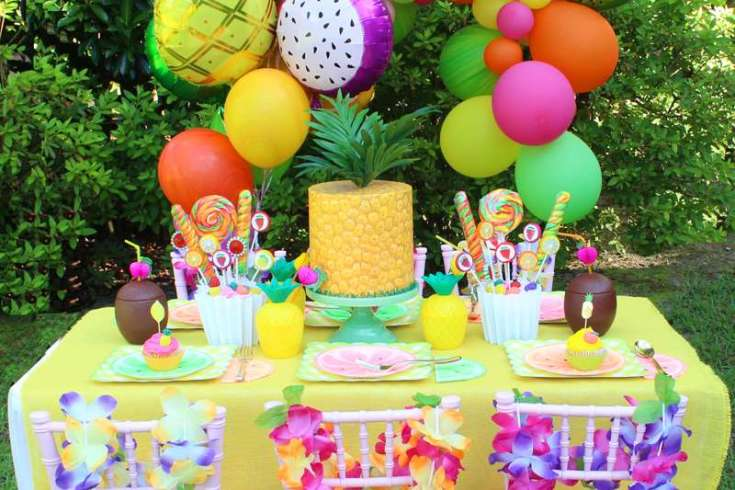 Tropical Fruits Birthday Party Ideas