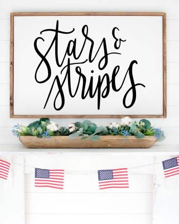 Free Stars and Stripes SVG for Cricut and Silhouette Machines