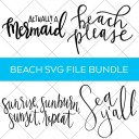 Beach Themed SVG Cut Files
