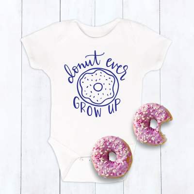 Free Donut Ever Grow Up SVG Cut File
