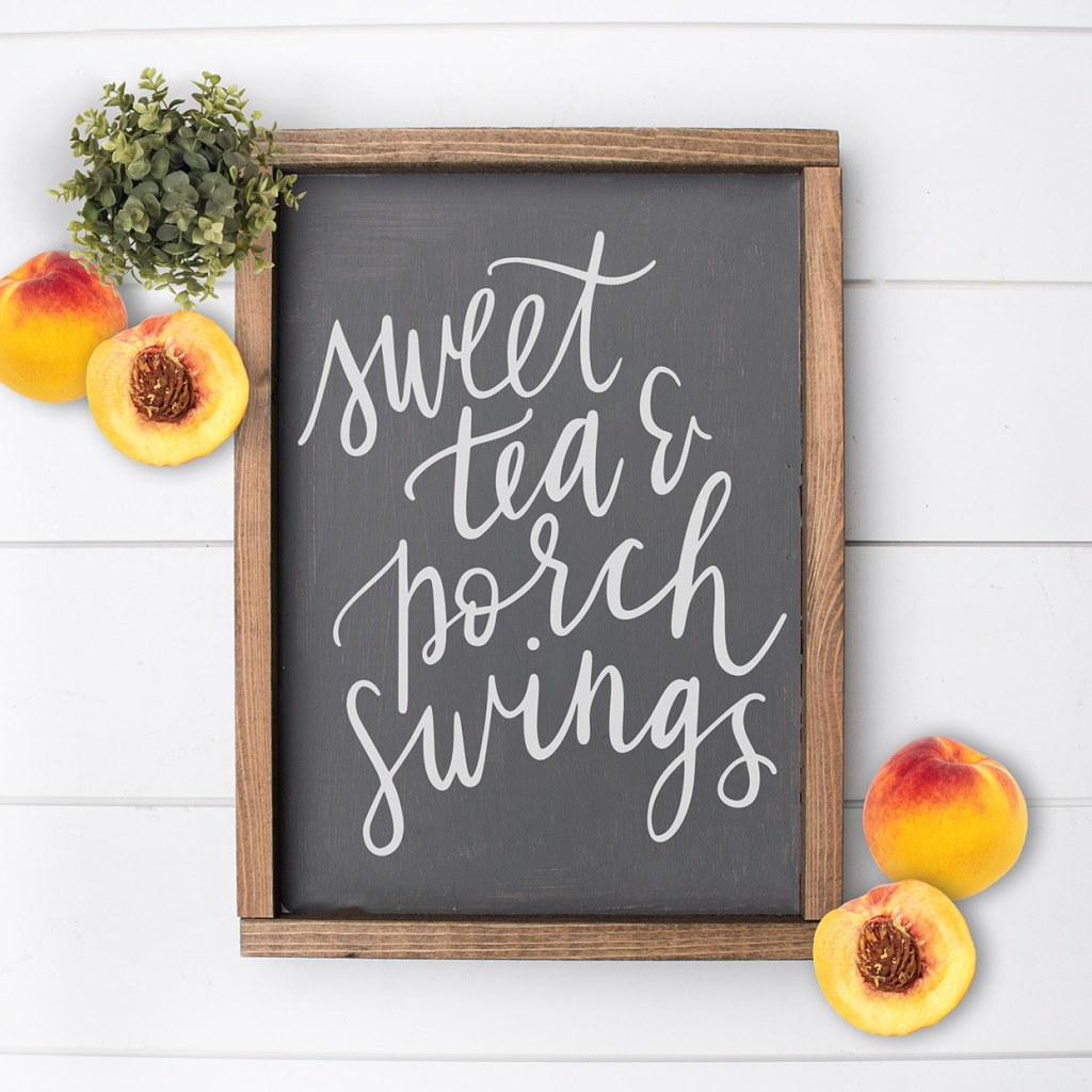 Free Sweet Tea & Porch Swings Southern SVG for Cricut & Silhouette by Pineapple Paper Co.