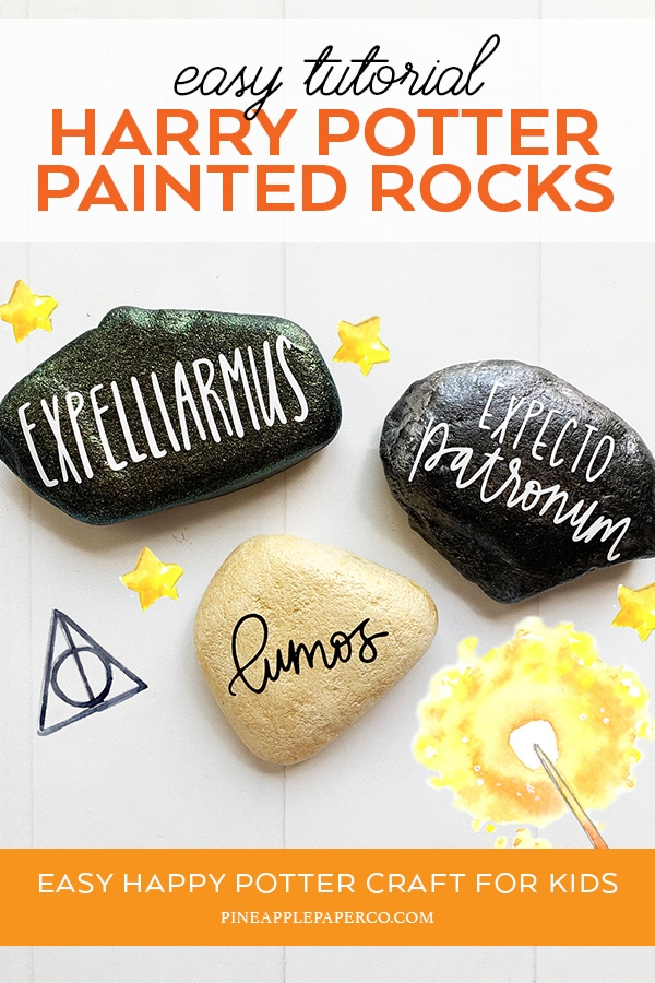 Easy Harry Potter Spells Painted Rocks by Pineapple Paper Co.