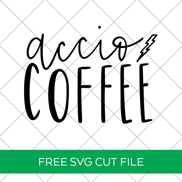 Free Accio Coffee SVG Download for Cricut & Silhouette by Pineapple Paper Co.