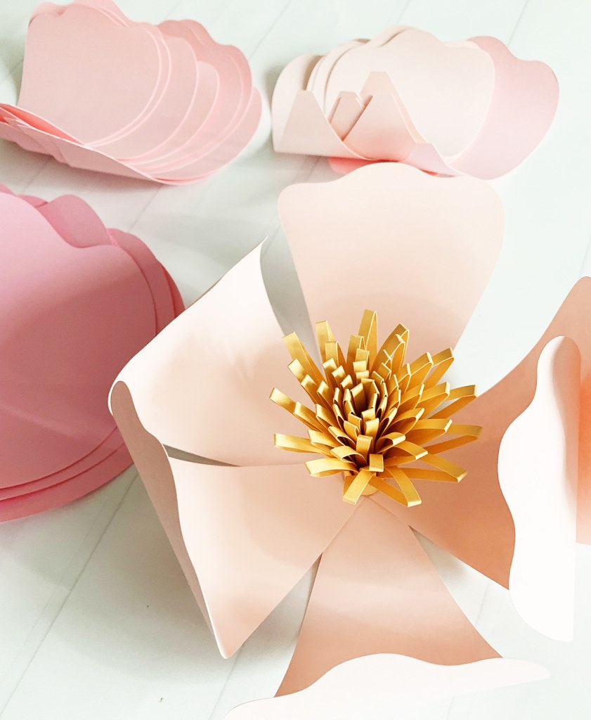 Step by Step Giant Paper Flowers Tutorial by Pineapple Paper Co.