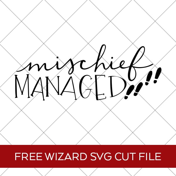 Free Mischief Managed Harry Potter SVG Cut File for Cricut & Silhouette by Pineapple Paper Co.