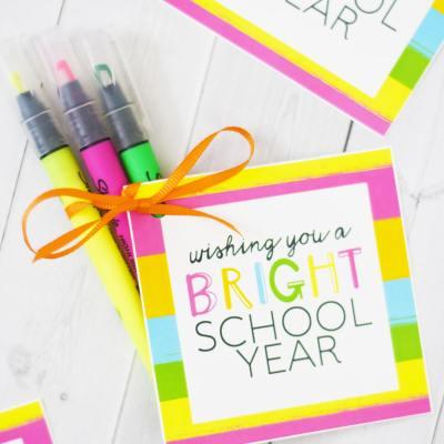 Bright School Year Back to School Easy Teacher Gift