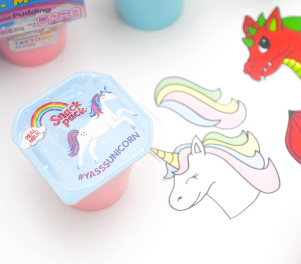 picture regarding Be a Unicorn in a Field of Horses Free Printable identify Unicorn Dragon Snack Pack - No cost Printables - Pineapple