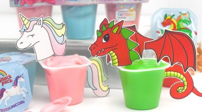 Unicorn & Dragon Free Printables by Pineapple Paper Co.