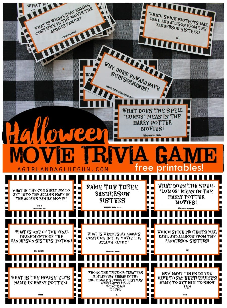 photograph regarding Halloween Charades Printable identified as Simplest Cost-free Printable Halloween Occasion Video games - Pineapple Paper Co.