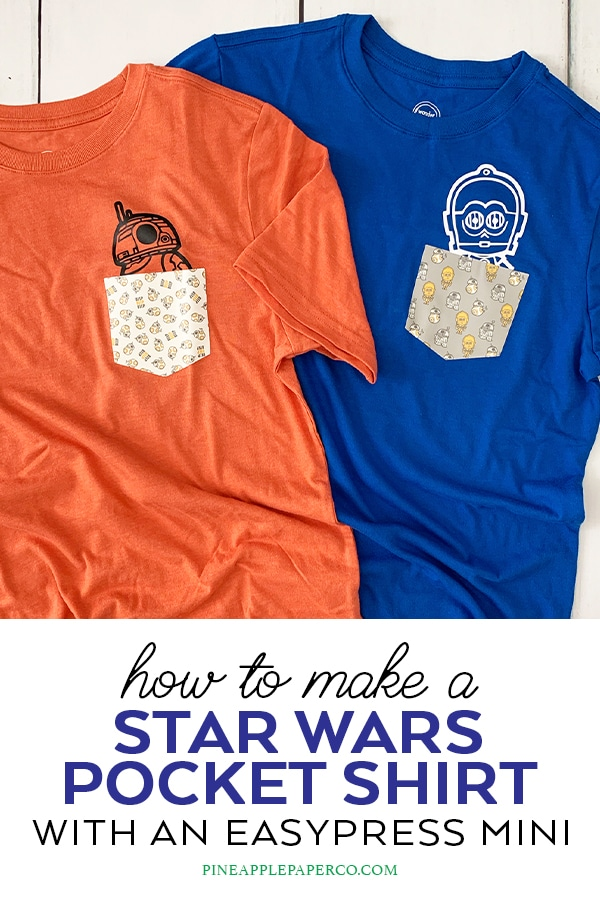 Make a Star Wars Custom Pocket T Shirt by Pineapple Paper Co.
