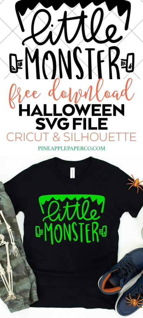 Little Monster Free Halloween SVG for Cricut & Silhouette Machines by Pineapple Paper Co.