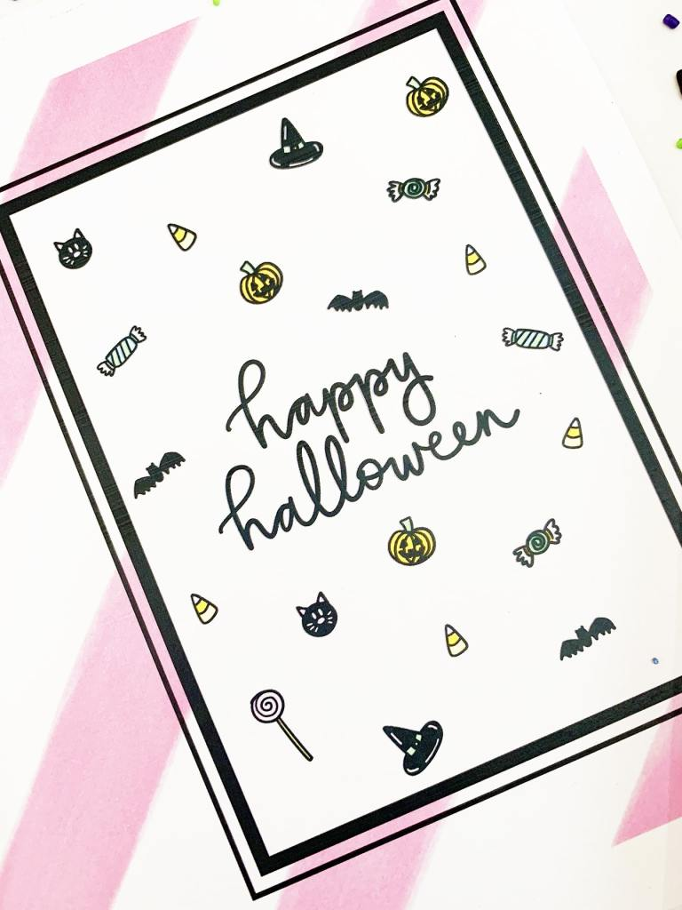Halloween Card Free Printable by Pineapple Paper Co.