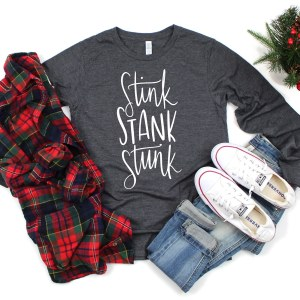 Stink Stank Stunk Grinch SVG Free by Pineapple Paper Co.