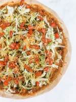 Easy Homemade Taco Pizza with Homemade Pizza Crust by Pineapple Paper Co.