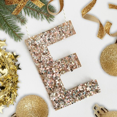DIY Glitter Letter Ornament