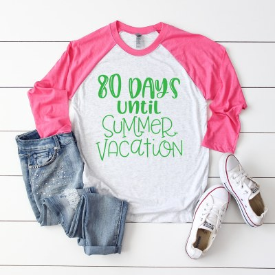 100 Days of School Shirt – Countdown to Summer with Free SVG Files