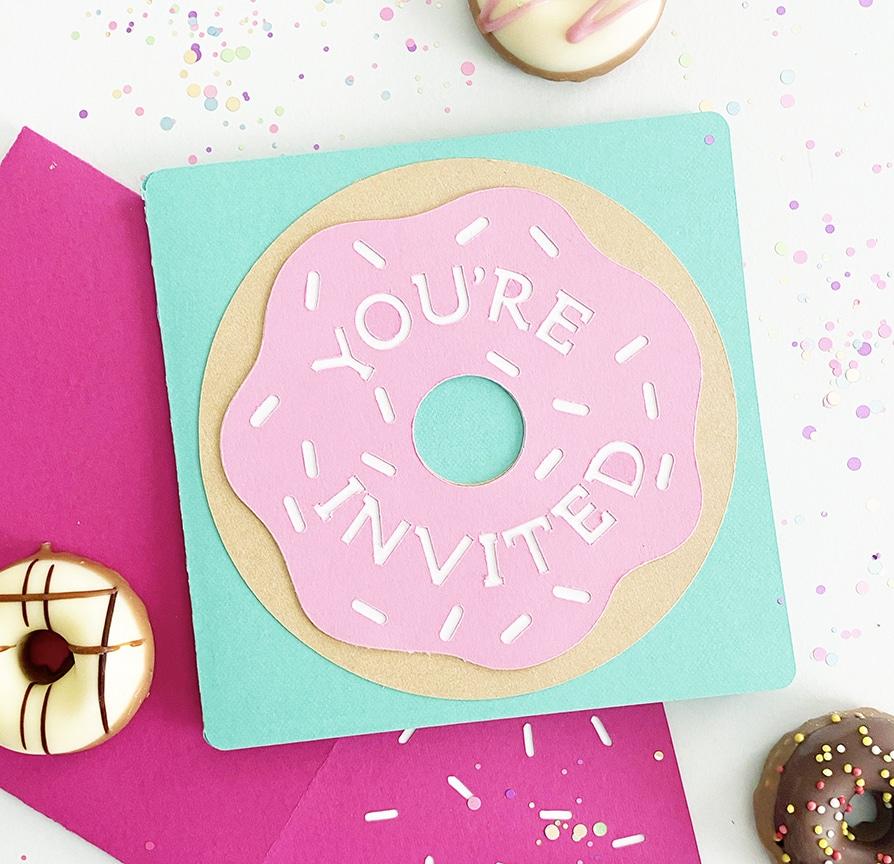 DIY Donut Birthday Invitations - Cricut Project ...
