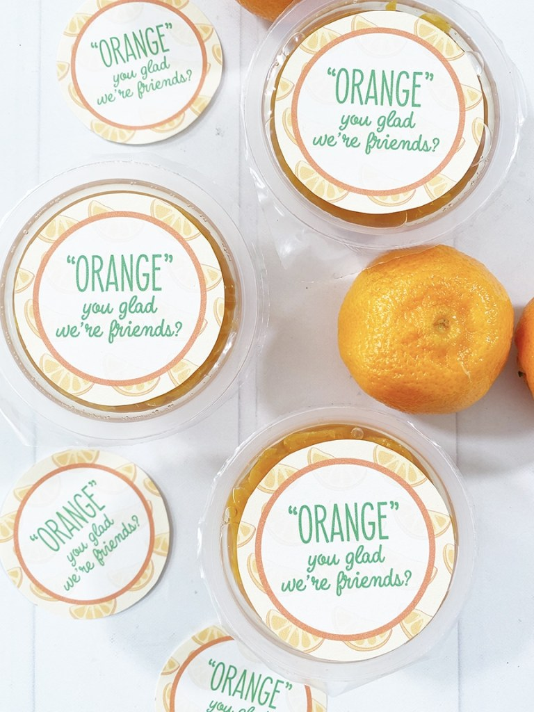 Free Printable Fruit Valentines for Fruit Snacks, Fruit Cups, and Juice by Pineapple Paper Co.