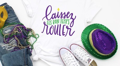 Free Laissez Les Bon Temps Rouler Mardi Gras SVG by Pineapple Paper Co.