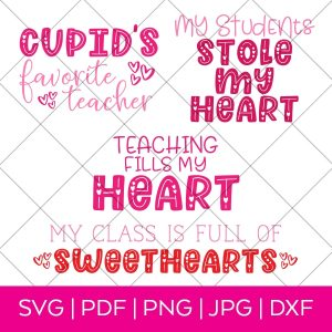 Valentine's Day SVG Bundle by Pineapple Paper Co.