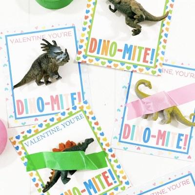 Free Printable Dinosaur Valentines