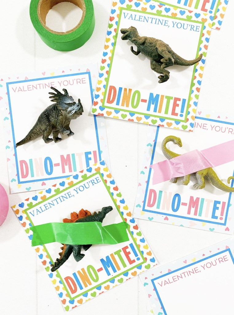 Free Printable Dinosaur Valentines for Kids by Pineapple Paper Co.