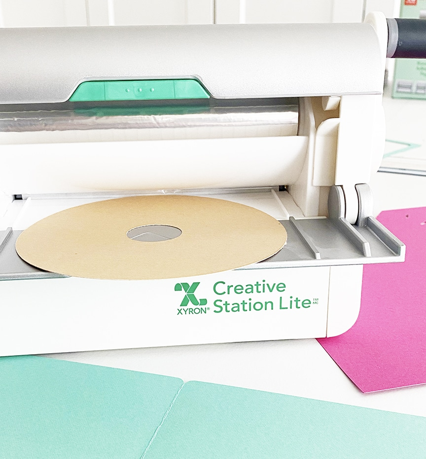 DIY Donut Birthday Invitations with your Cricut and Xyron Creative Station by Pineapple Paper Co.