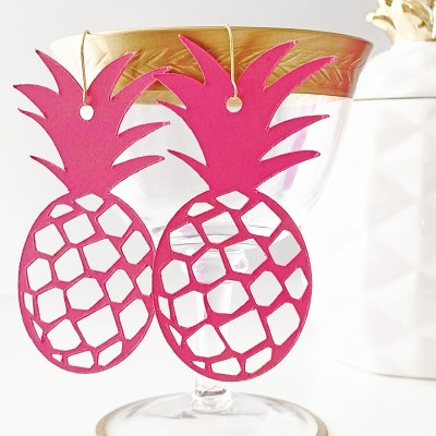 Cricut Pineapple Earrings