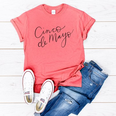 DIY Cinco de Mayo Shirt with Free SVG by Pineapple Paper Co.