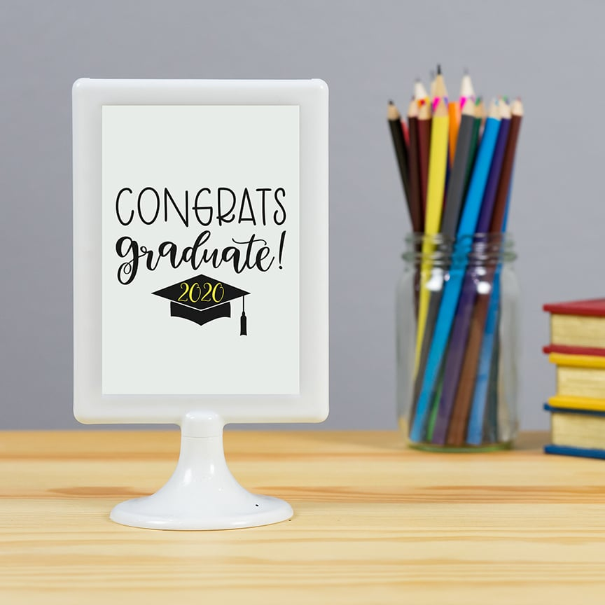 Congrats Graduate Sign with Free Graduation SVG by Pineapple Paper Co.