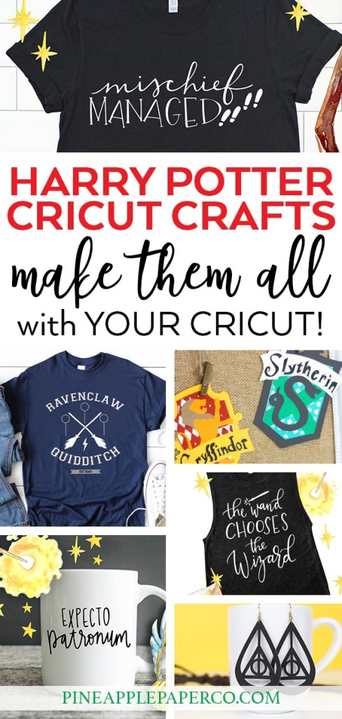 25+ Harry Potter Cricut Crafts and Projects curated by Pineapple Paper Co.