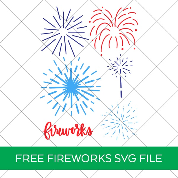 Free Fireworks SVG for Cricut and Silhouette by Pineapple Paper Co.
