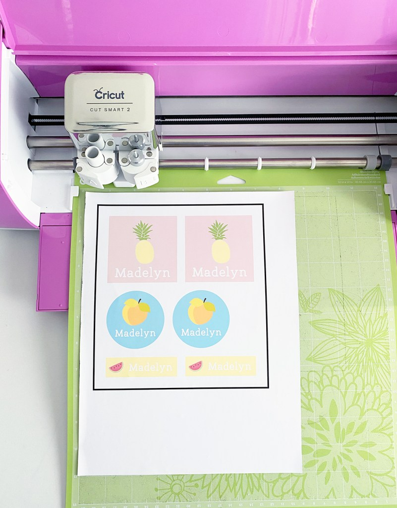 Personalized School Labels for DIY School Supplies with Cricut Explore Air 2