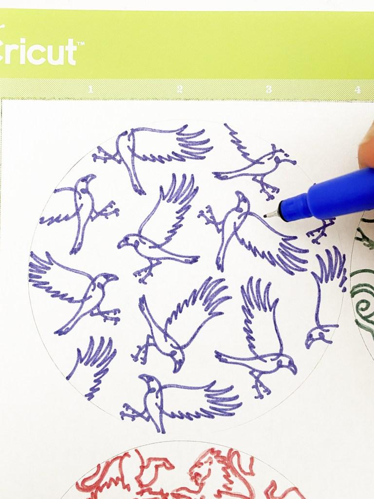 Cricut Infusible Ink Ravenclaw Hogwarts Coaster