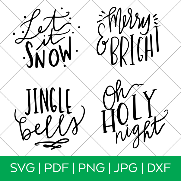 Handlettered Christmas SVG by Pineapple Paper Co.
