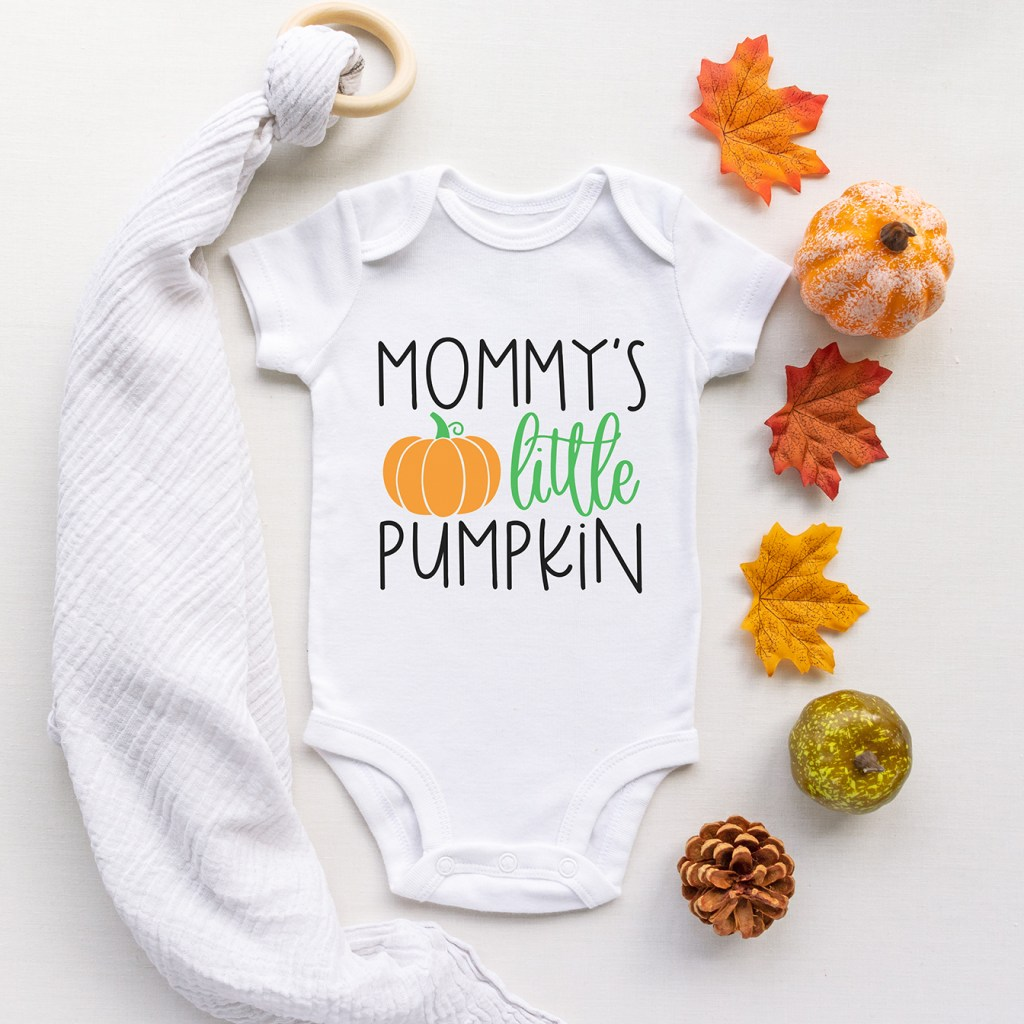 Mommy's Little Pumpkin SVG to Make a Onesie with your Cricut or Silhouette at Pineapple Paper Co.