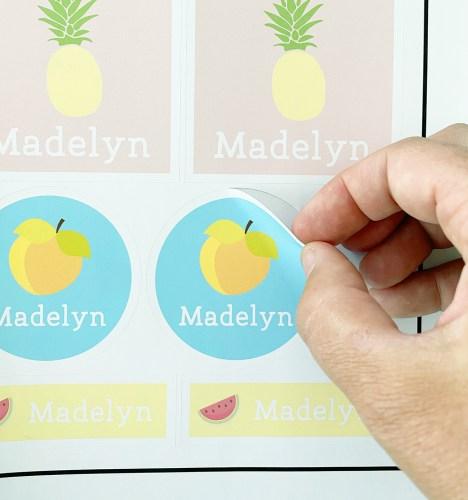 Cricut Print then Cut School Stickers