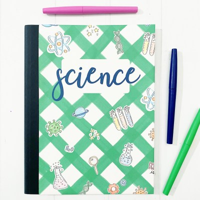 Printable Math and Science Notebook Covers