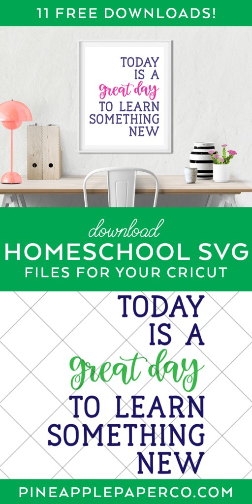 Free Today is a Great Day to Learn Something New SVG file at Pineapple Paper Co.