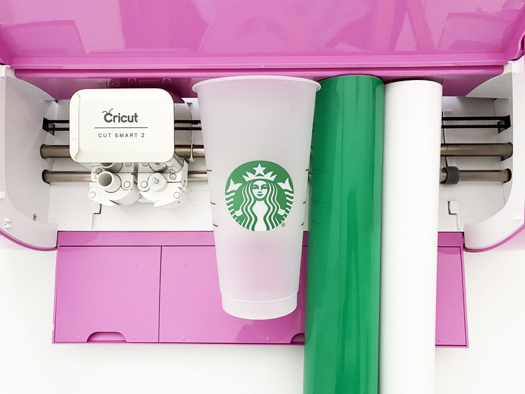 Supplies to Make a DIY Starbucks Cold Cup with Free Harry Potter Espresso Patronum Starbucks SVG