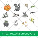 Printable Halloween Stickers FREE