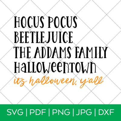 Halloween Movies SVG Cut File