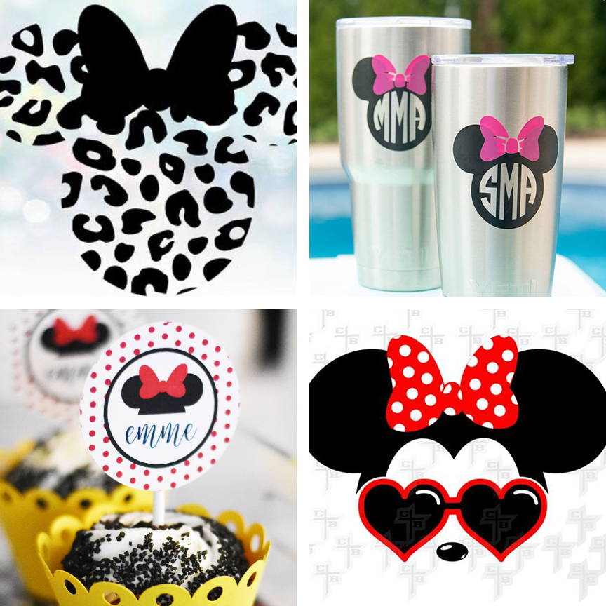 Make Shirts and Cricut crafts with Minnie Mouse SVG Files