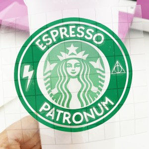 Applying Free Harry Potter Espresso Patronum Starbucks SVG